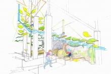 exhibit design, main street design
